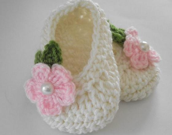 crocheted slippers from squares scheme